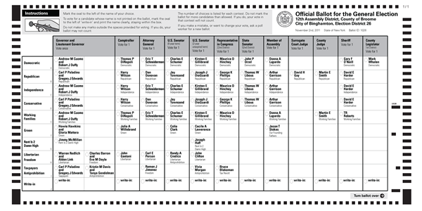 Hello, New York. What will your ballot look like in November ...